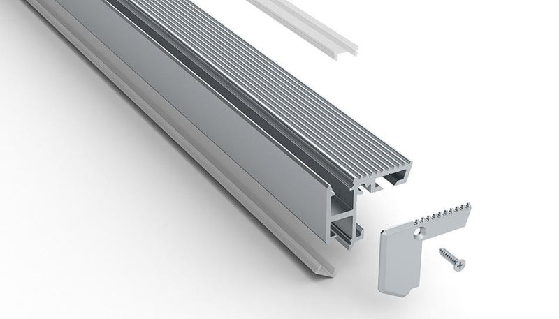 Aluminum end caps for ALU-STAIR NANO LED profile| Wired4Signs USA |