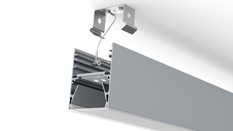 Surface/pendant mounting bracket for DPL55, DPL70FL LED profile - Wired4Signs USA