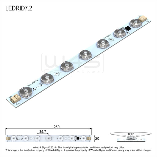 7.2w High CRI Back-lit LED Linear Module - Wired4Signs USA