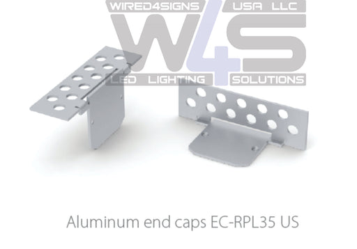 End cap for plaster board profile RPL35US, without cable hole - Wired4Signs USA