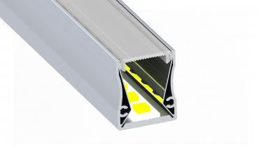 Surface Mount LED Strip Channel - Model SLW20-FL [Profile Only]| Wired4Signs USA |