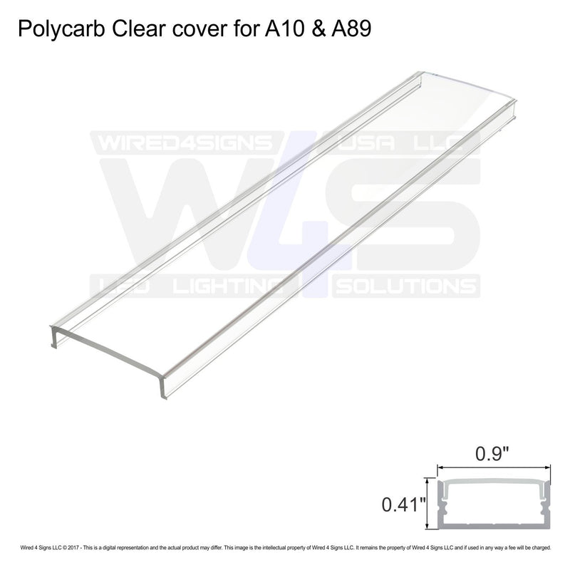 Polycarb Clear cover for  A10 & A89 - Dif4 (2meter/6.56ft length)| Wired4Signs USA |