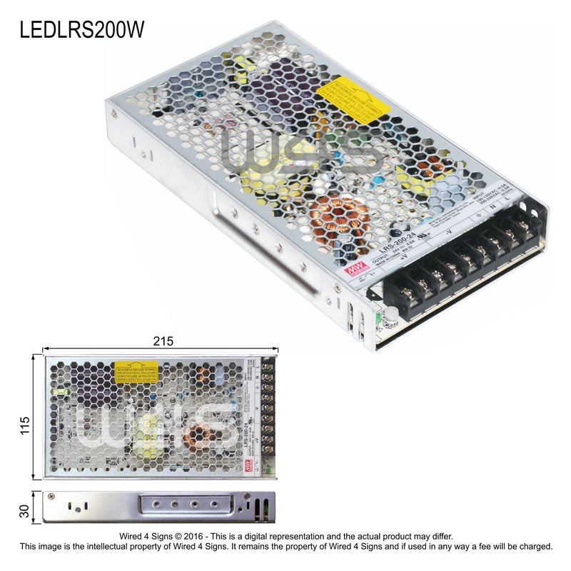 Meanwell LRS Indoor led driver ~ 3 Year| Wired4Signs USA |