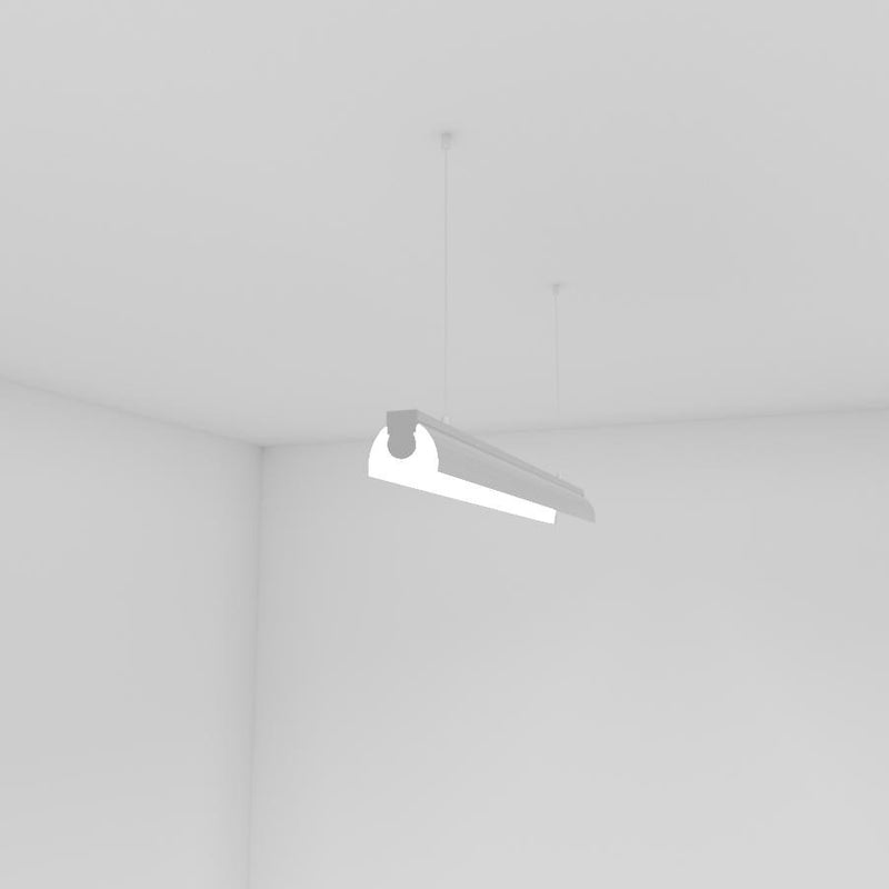 Round LED Linear Pendant- Model A41 [Profile only] - Wired4Signs USA