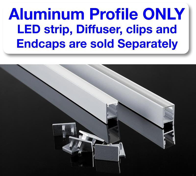 Thin Surface Mount LED Strip Channel - Model Alu Swiss [Profile Only] - Wired4Signs USA