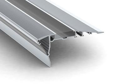 Silver LED Stair Lights Channel - Model Alu-Stair 2 [Profile Only]| Wired4Signs USA |