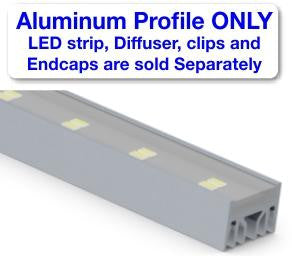 Surface Mount LED Strip Channel - Model Alu Epoxy [Profile Only] - Wired4Signs USA