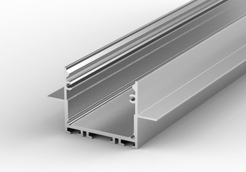 "1"" Ceiling/Wall Recessed Linear LED Lighting Profile - Model Belfast [Profile Only]