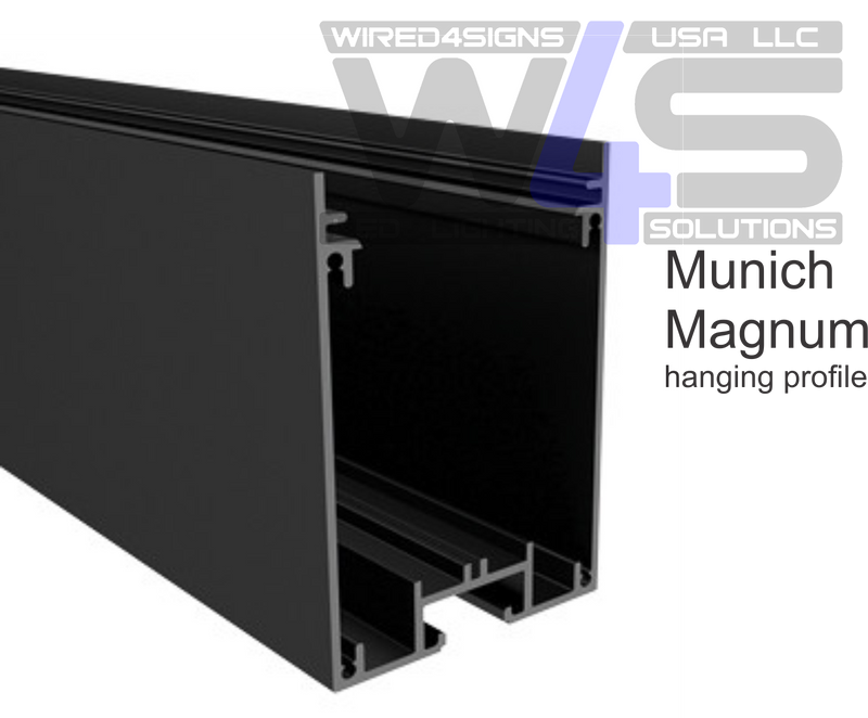 "3.5x2.2"" Linear Suspension Lighting Channel~Model:-Munich Magnum - Wired4Signs USA"