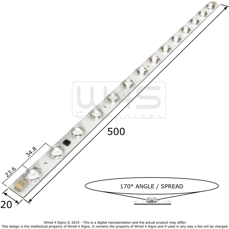 14.4w High CRI Back-lit LED Linear Module| Wired4Signs USA |