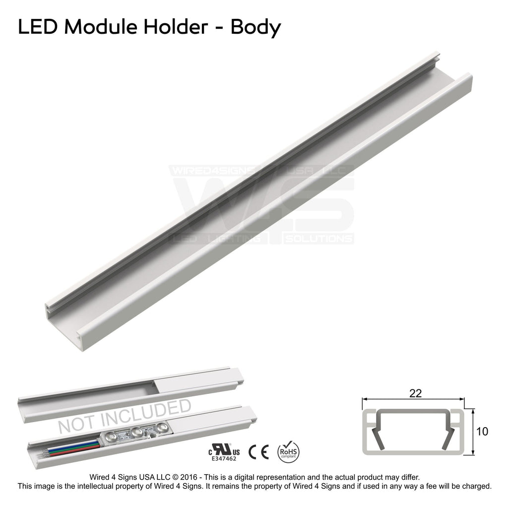 32' PVC LED Storefront Light Track for Storefront LED lights with tracks| Wired4Signs USA |