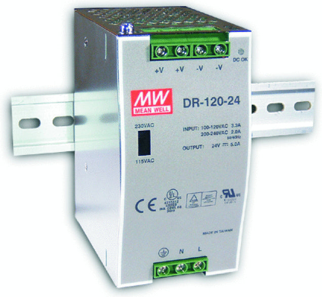 24vdc DIN Rail Power Supply| Wired4Signs USA |
