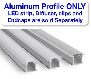 Recess LED Strip Channel - Model RSL15 [Profile Only]| Wired4Signs USA |