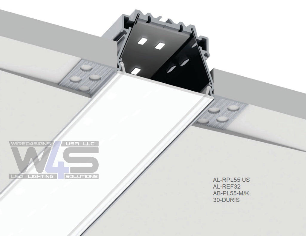 "2""Plaster-in Trimless LED Drywall Channel~Model RPL55US-3meter(9.84ft) - Wired4Signs USA"