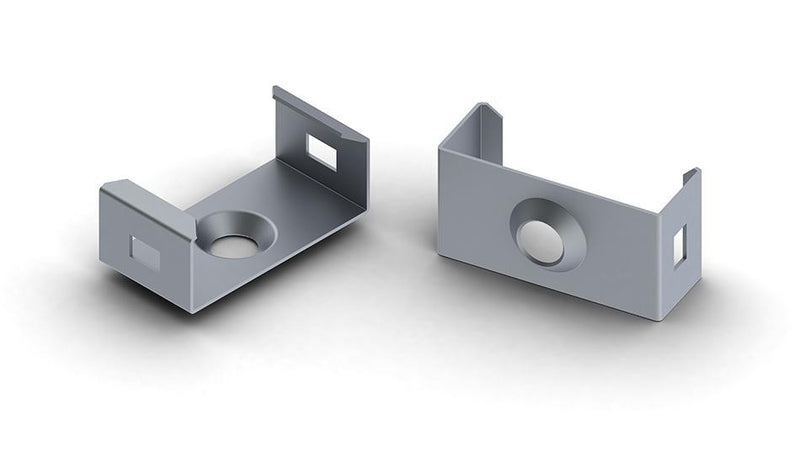 new, Spring steel mounting bracket for SlimLine Wide 8mm LED profile - Wired4Signs USA