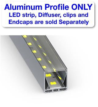 Surface Mount LED Strip Channel - Model SPL35-FL [Profile Only] - Wired4Signs USA