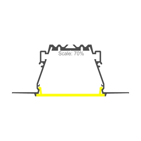 "2""Plaster-in Trimless LED Drywall Channel~Model RPL55US-3meter(9.84ft)