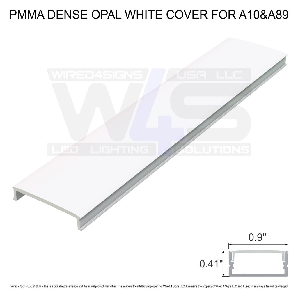 PMMA Dense Opal White cover for  A10&A89  - Dif4 (2meter/6.56ft length)| Wired4Signs USA |