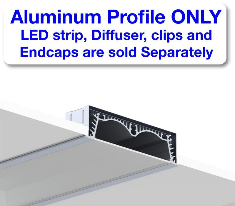 Recess LED Strip Channel - Model RPLW116 [Profile Only]| Wired4Signs USA |