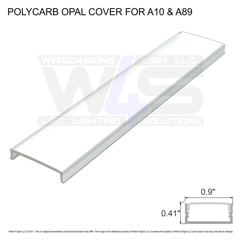 Polycarb Opal cover for  A10 & A89  - Dif4 (2meter/6.56ft length)| Wired4Signs USA |
