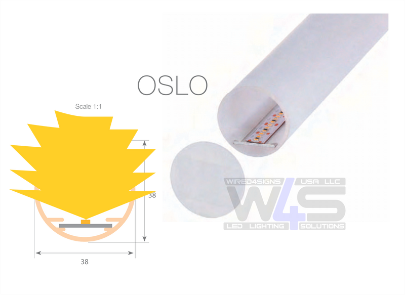 Round Polycarbonate LED Diffuser Tube - Model~Oslo - Wired4Signs USA