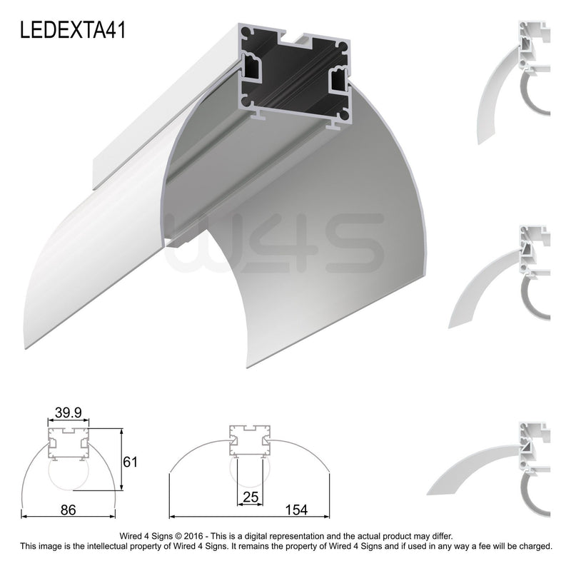 Round LED Linear Pendant- Model A41 [Profile only]| Wired4Signs USA |