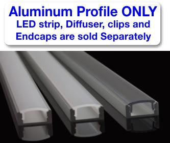 Surface Mount LED Strip Channel - Model SL7 [Profile Only] - Wired4Signs USA
