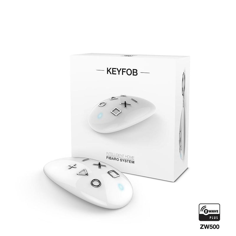 Fibaro Z Wave KeyFob -White - Wired4Signs USA