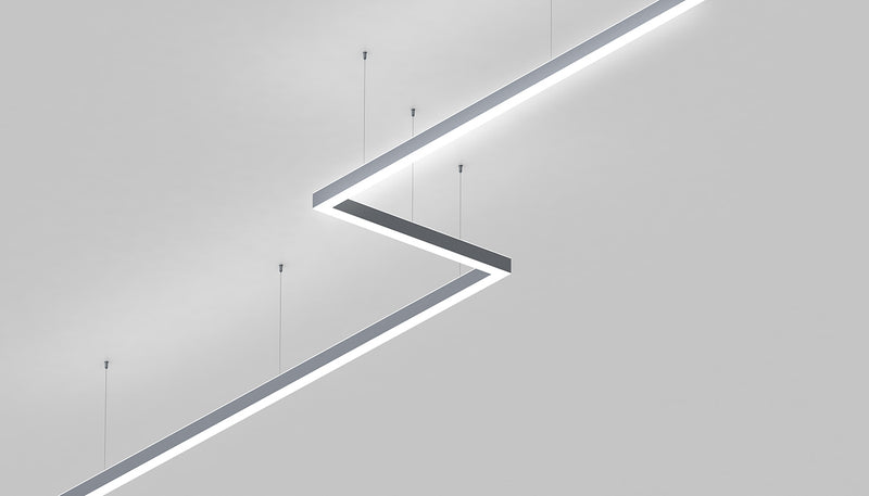 Direct Indirect Linear Pendant Lighting LED Channel~Model:-DPL70FL - Wired4Signs USA