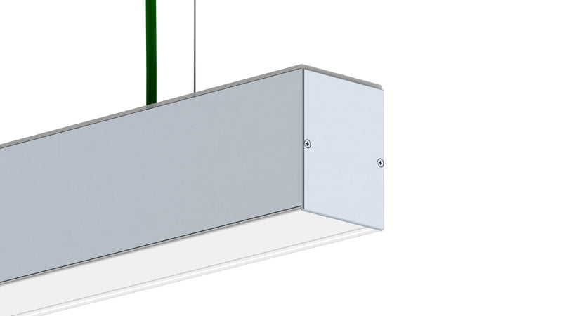 Rectangular LED Linear Pendant - Model DPL55-FL [Profile Only] - Wired4Signs USA