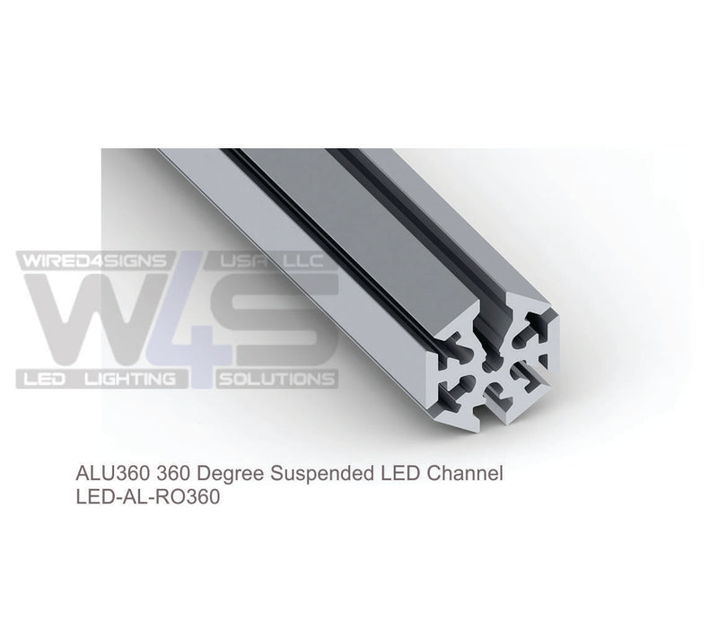 "2.36"" 360 degree LED Tube Profile - Model ALU360 [Profile Only]