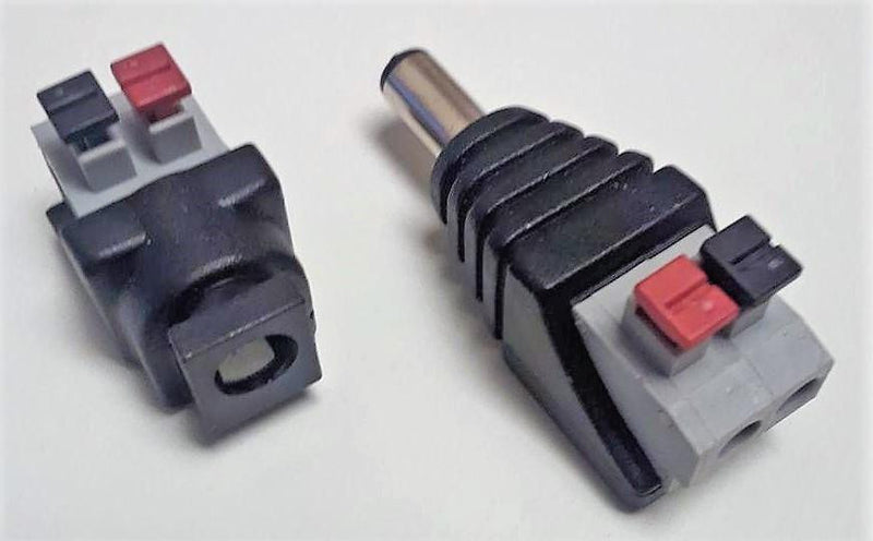 DC Jack and Plug Screwless Wire Connector| Wired4Signs USA |