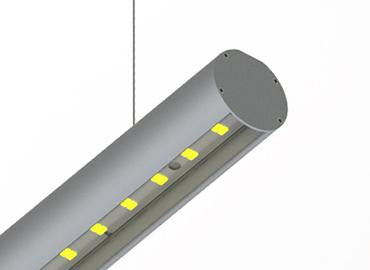 Round LED Linear Pendant - Model Alu Round 52 [Profile Only]| Wired4Signs USA |