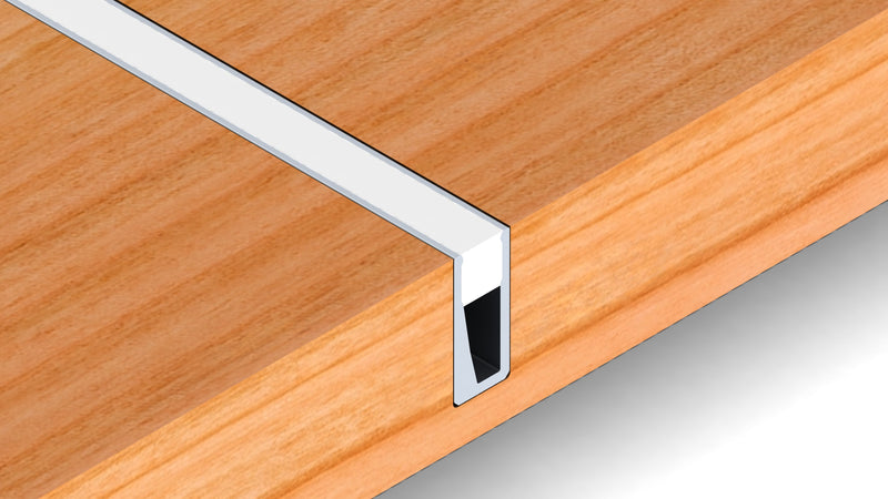Very Thin Recessed LED Strip Channel - Model Nano Line - Wired4Signs USA