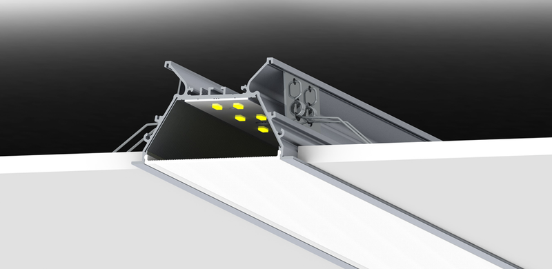 Recess LED Strip Channel - Model RPLW80FL [Profile Only]| Wired4Signs USA |