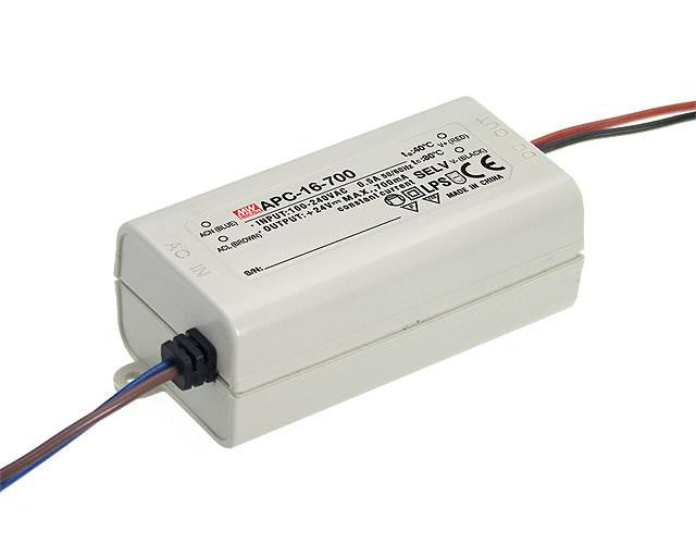 Meanwell APC 16 700 16W Single Output LED constant current driver| Wired4Signs USA |