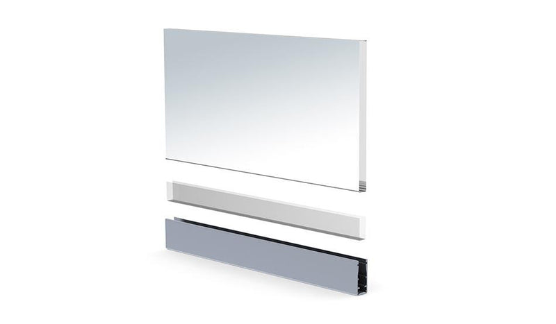 LED Glass Railing Edge-Lit LED Strip Channel - Model Alu Glass [Profile Only] - Wired4Signs USA