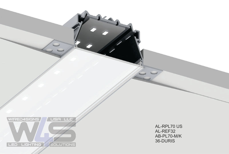 "2.76""Plaster-in Trimless LED Drywall Channel~Model RPL70US