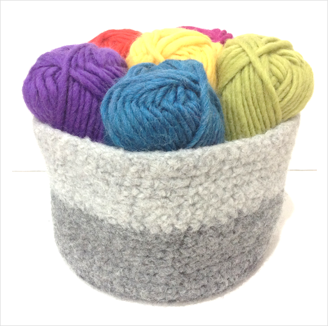 Felting Fever ~ Crochet Basket