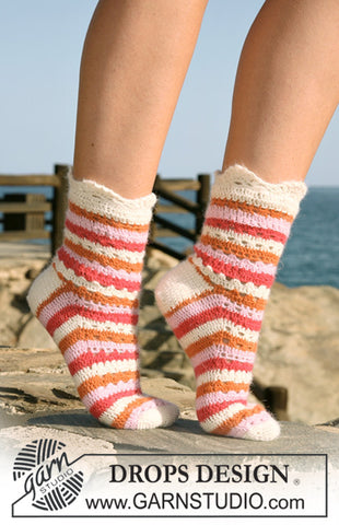 Summer Sorbet Socks DROPS Design