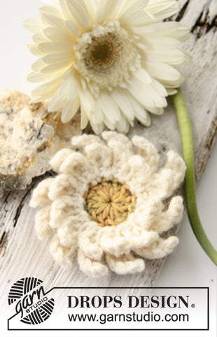 DROPS Design Gerbera Crochet Pattern
