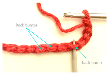 Crocheting into the back bump by Cotton Pod UK