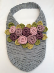 Rosie Posie Felted Crochet Tote by Cotton Pod