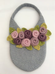 Rosie Posie Tote Crochet Felted Bag Pattern by Cotton Pod