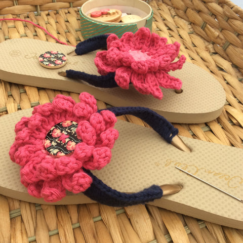 Crochet Flip Flops made by Cotton Pod using DROPS Paris Cotton