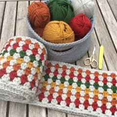 Buy Cotton Pod Crochet Kit - Super Granny Scarf