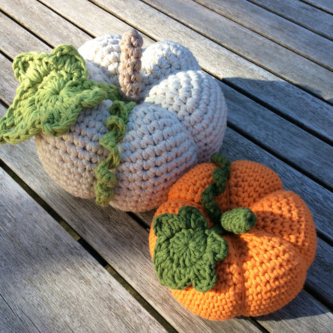 Crochet pumpkin pattern by Cotton Pod