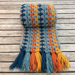 Cotton Pod Crochet Kit - Super Granny Scarf Petrol
