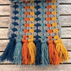 Cotton Pod Crochet Kit - Super Granny Scarf - Petrol