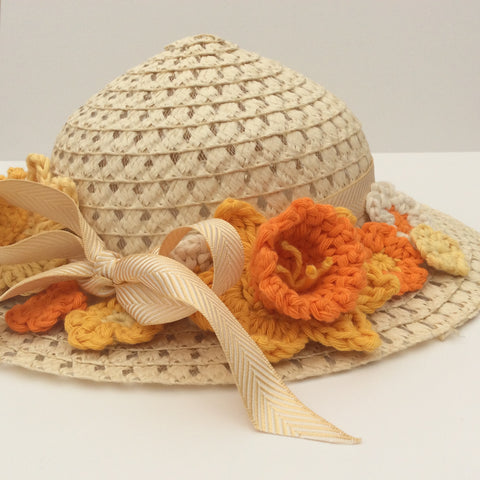 Easter Bonnet ~ crocheted by Cotton Pod